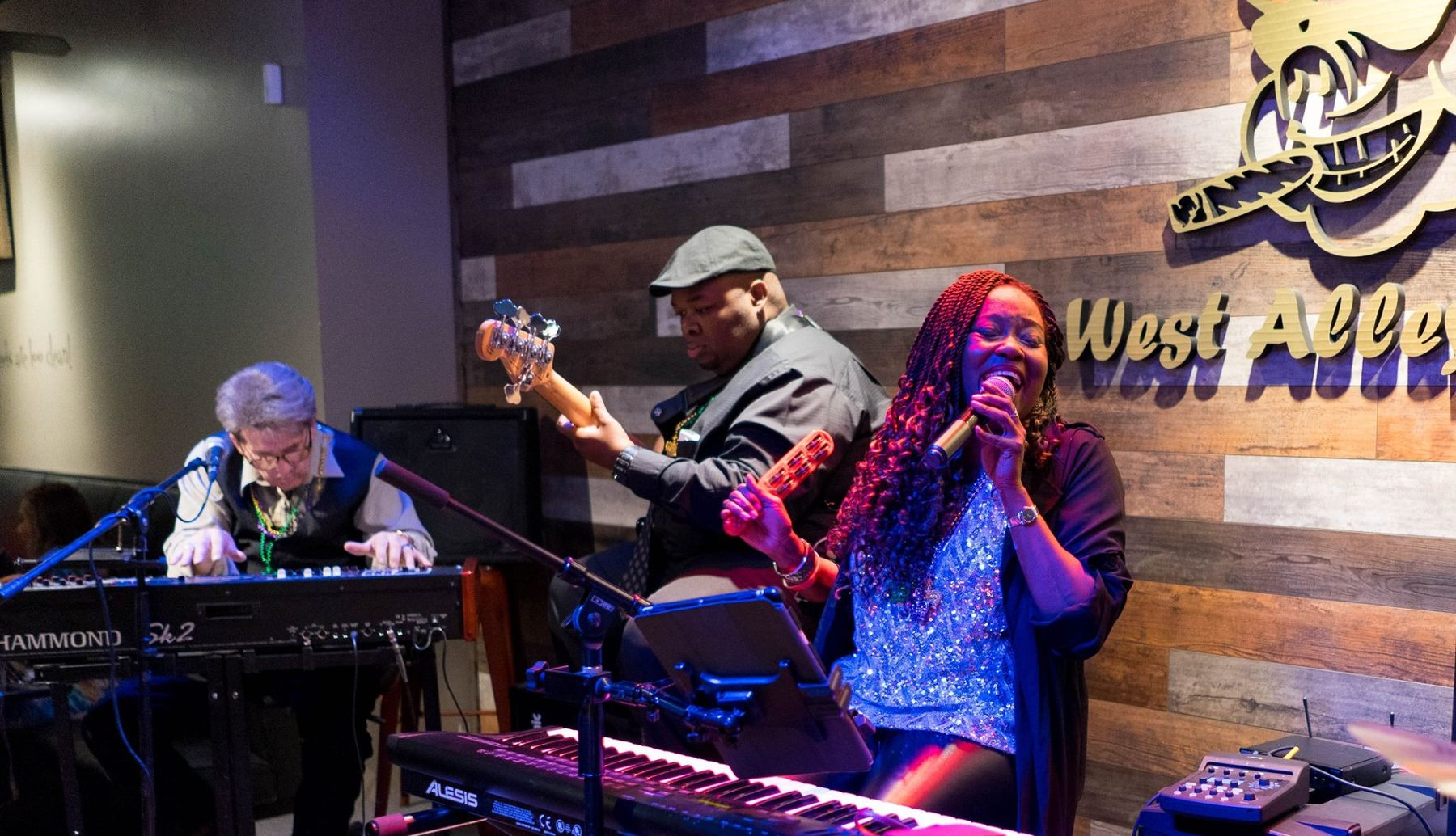 Sandra Bassett performs at West Alley BBQ